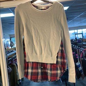 Treasure & Bond sweater flannel top
